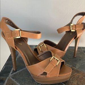 Mixx Shuz Tan Platform Sandals - NWOT